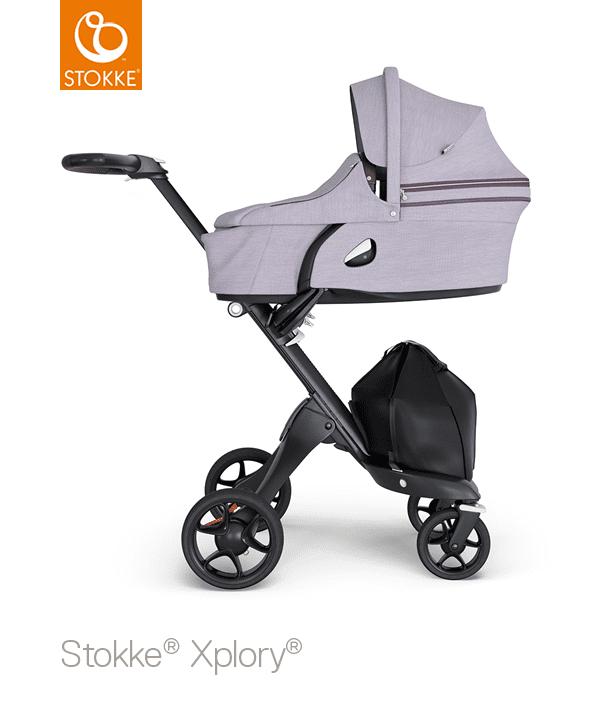 Stokke® Xplory® V6 Compleet Black - Brown Handle