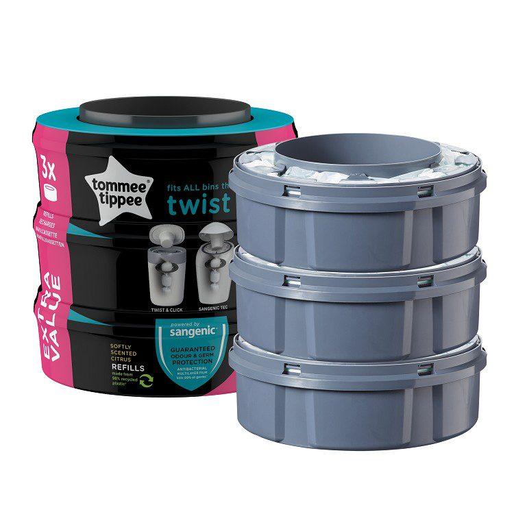 Tommee Tippee Twist&Click Navulcassette 3-Pack