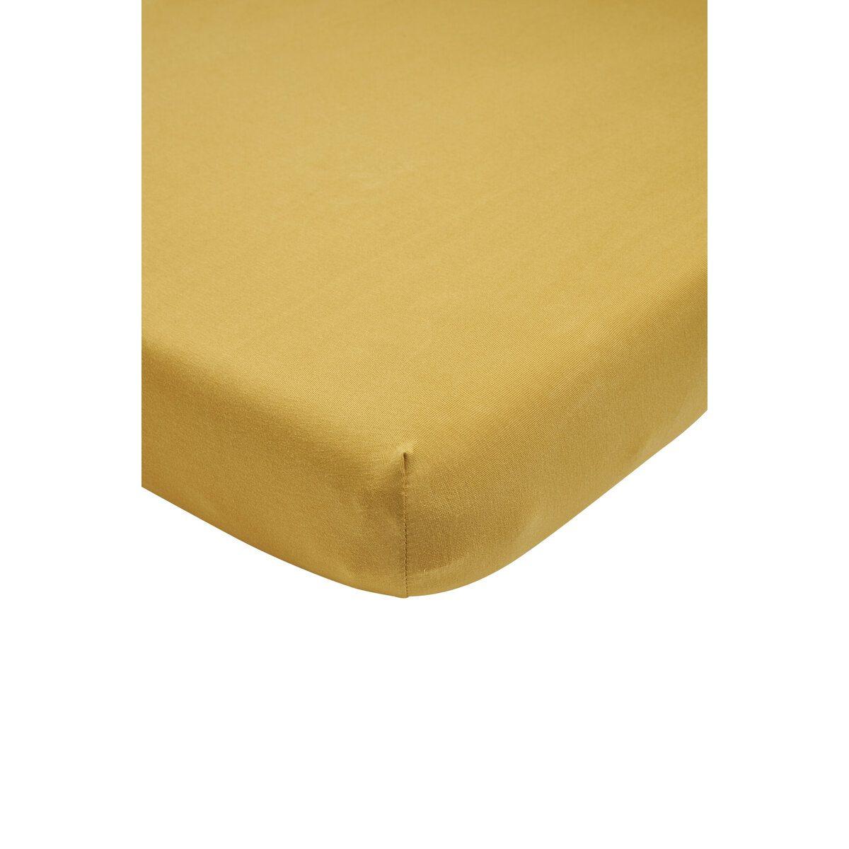Meyco Jersey Hoeslaken Boxmatras 75x95 cm. 75x95 - Honey Gold